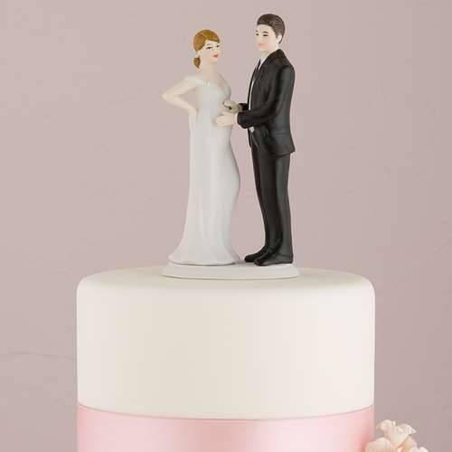 Tortenfigur Erwartendes Brautpaar