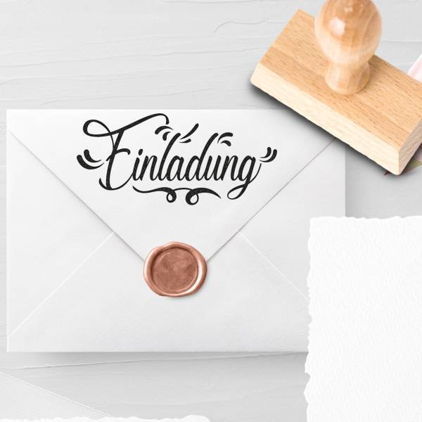 Personalisierbarer Hochzeitsstempel 'Einladung' Lorena Nr. 10