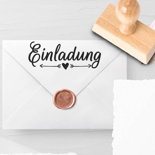 Personalisierbarer Hochzeitsstempel 'Einladung' Laria Nr. 2