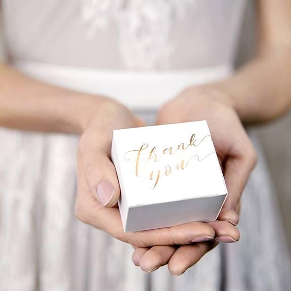 Box für Gastgeschenke Thank You Gold