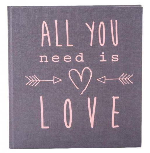 Hochzeitstagebuch Grey All you need is love