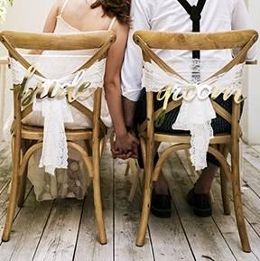 Stuhlschilder Brautpaar