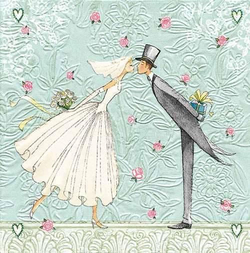 Bride and Groom Servietten