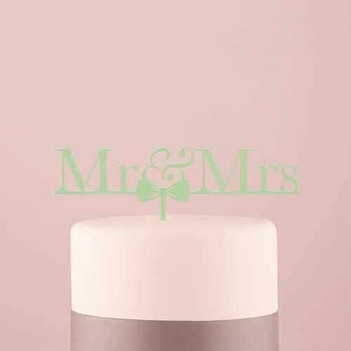Tortenfigur Acrylglas Mr und Mrs - verschiedene Farben
