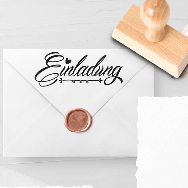Personalisierbarer Hochzeitsstempel 'Einladung' Leda Nr. 4