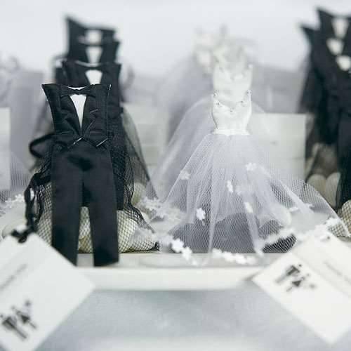 Tüllsäckchen Braut und Bräutigam