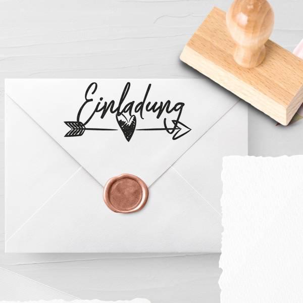 Personalisierbarer Hochzeitsstempel 'Einladung' Lais Nr. 1