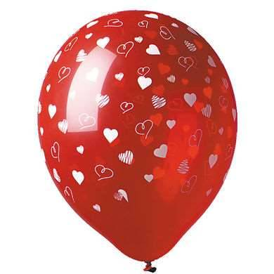 5 Motivballons Herzen
