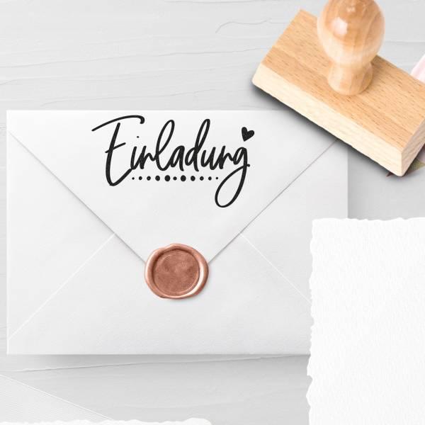 Personalisierbarer Hochzeitsstempel 'Einladung' Lethia Nr. 5