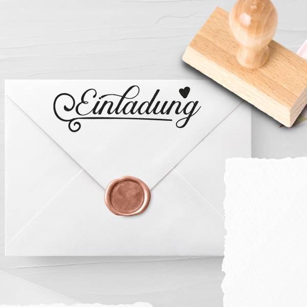 Personalisierbarer Hochzeitsstempel 'Einladung' Lysann Nr. 13