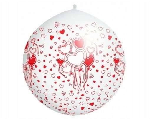 Riesen Ballon Herzen weiß