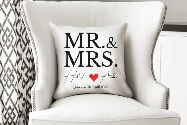 Kissenbezug Brautpaar