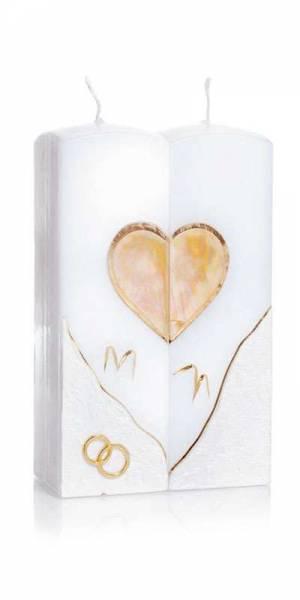 Hochzeitskerze Golden Heart