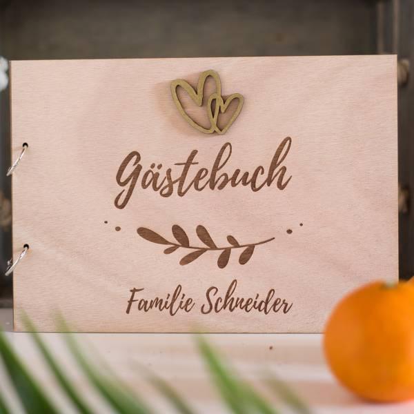 Gästebuch aus Holz · Holzcover · Fiore Nr. 73