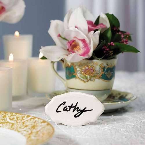 Tischkarte Keramik