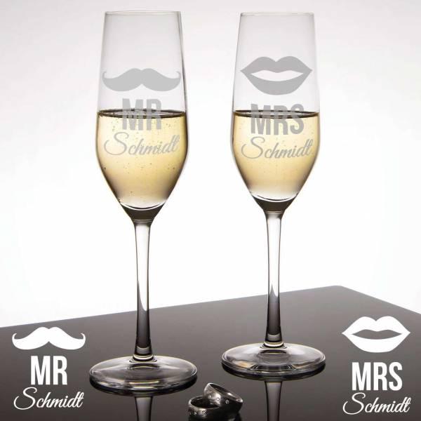 Sektgläser Moustache