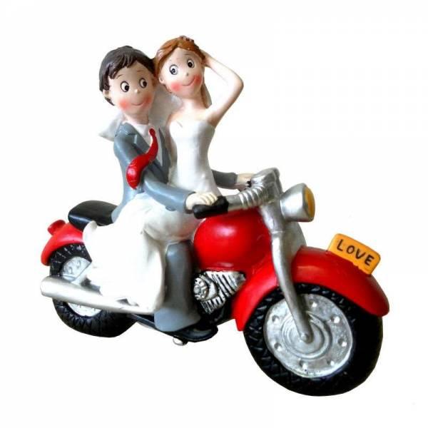 Tortenfigur Motorradfahrer Comic