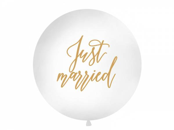 1 Meter Riesenballon Just Married