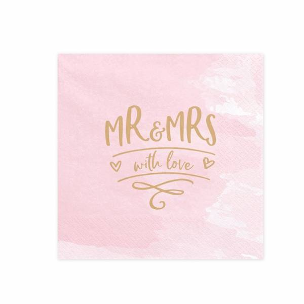 Serviette Mr & Mrs with Love