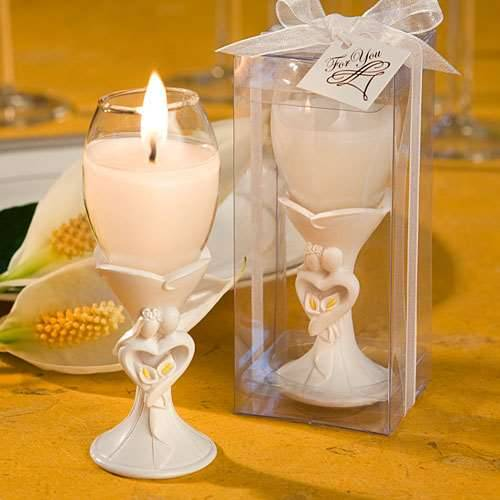 Dekokerze Champagnerglas Brautpaar