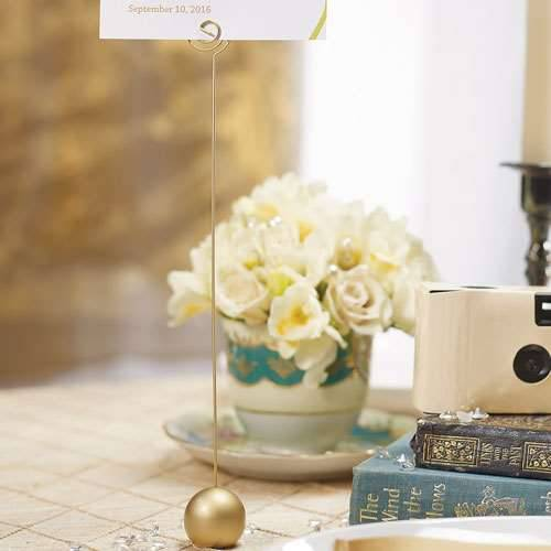 Tischnummer- und Menuekartenhalter Gold