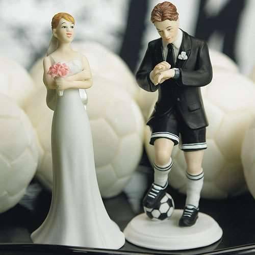 Fußballer und Braut