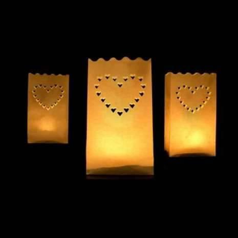 Lichttüte Candle Bag Herz