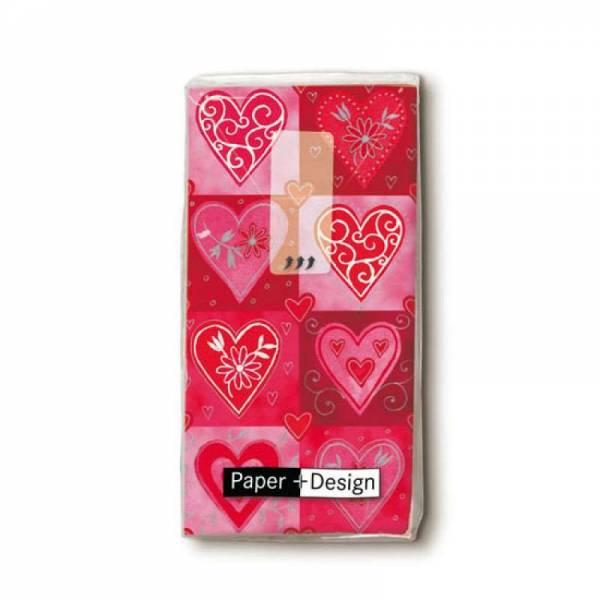 Taschentücher Hearts