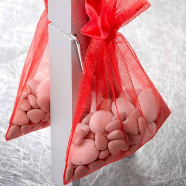 Organzasäckchen 17,0 cm x 12,0 cm verschiedene Farben