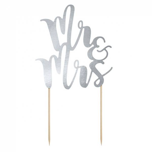 Cake Topper Mr & Mrs