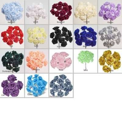 Minirose 12er Set verschiedene Farben
