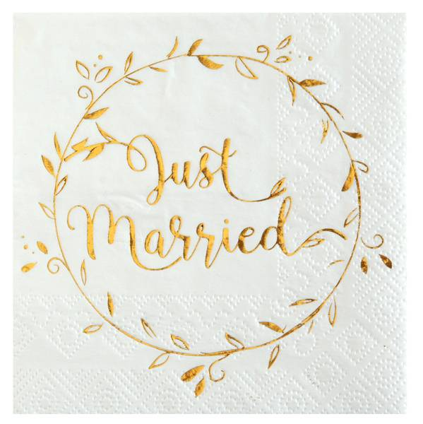 Servietten Just Married Boho