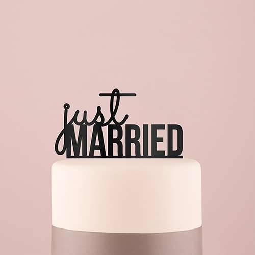Tortenfigur Acrylglas Just married - verschiedene Farben