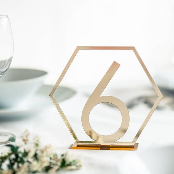 Tischnummer aus Acrylglas