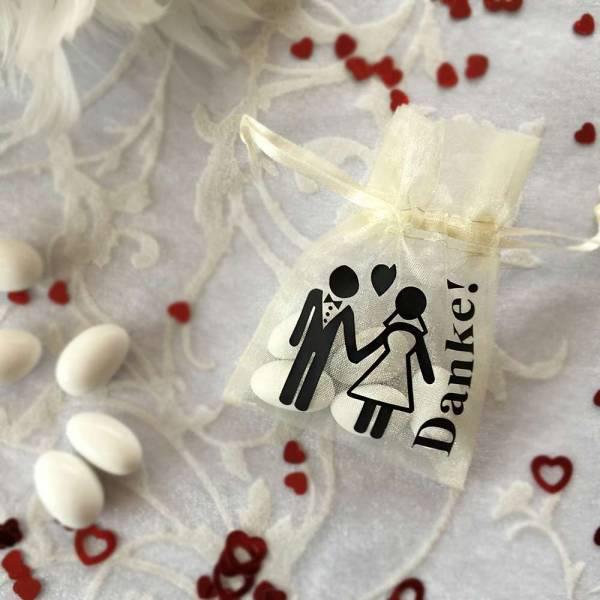 Tüllsäckchen Motiv Brautpaar