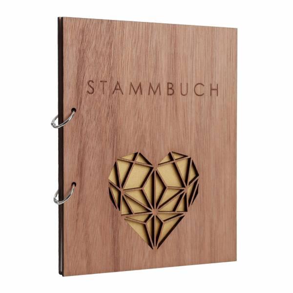 Stammbuch Holzcover Serie Geometric