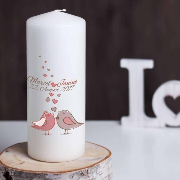 Hochzeitskerze Love Birds