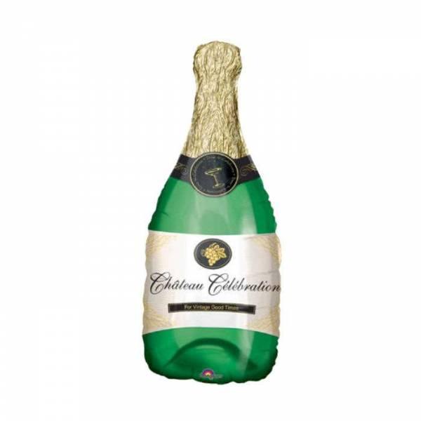 Folienballon Champagner Flasche