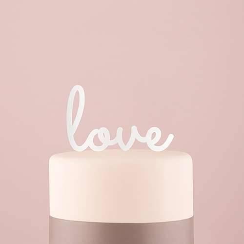 Tortenfigur Acrylglas Love - verschiedene Farben