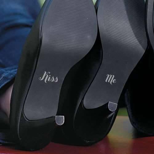Schuhaufkleber Kiss + Me