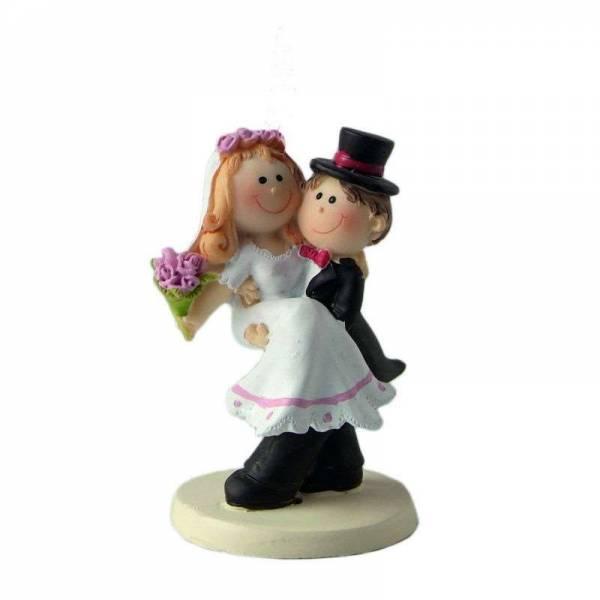 Tortenfigur Braut auf seinen Armen