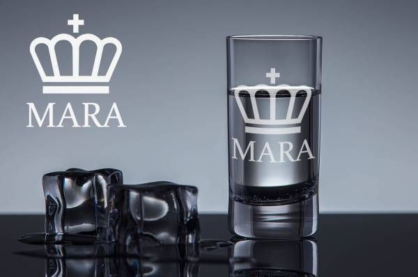 Schnapsglas Queen