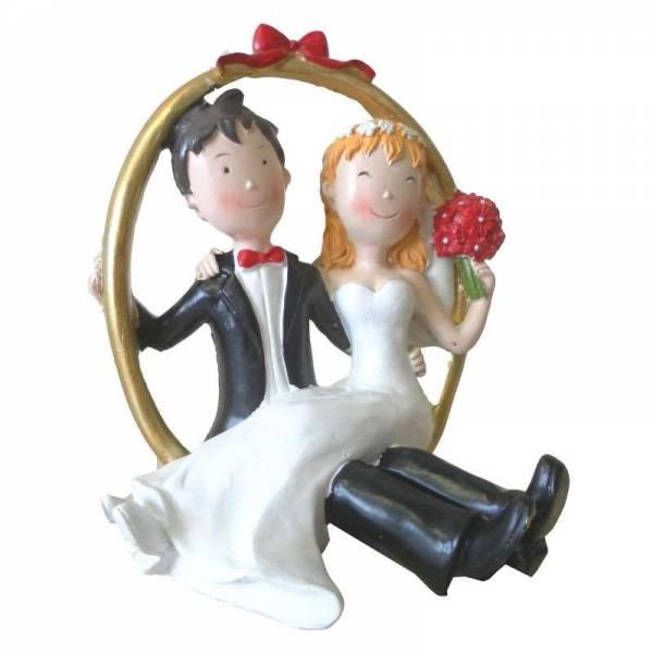 Tortenfigur Brautpaar im Ring