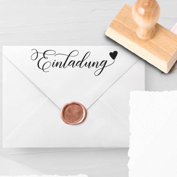 Personalisierbarer Hochzeitsstempel 'Einladung' Luludi Nr. 11
