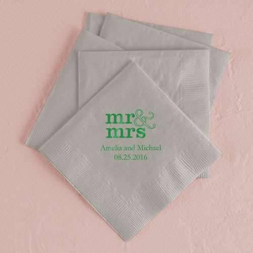 Servietten Mr und Mrs