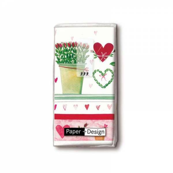 Taschentücher Growing Hearts