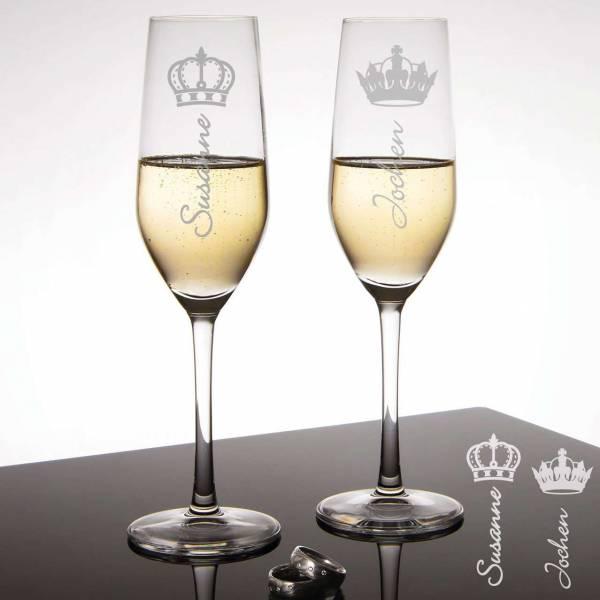 Sektgläser King & Queen
