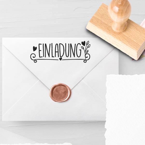 Personalisierbarer Hochzeitsstempel 'Einladung' Libra Nr. 6