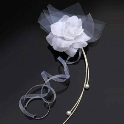 Autodeko Weiße Rosen