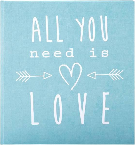 Hochzeitstagebuch Aqua All you need is love